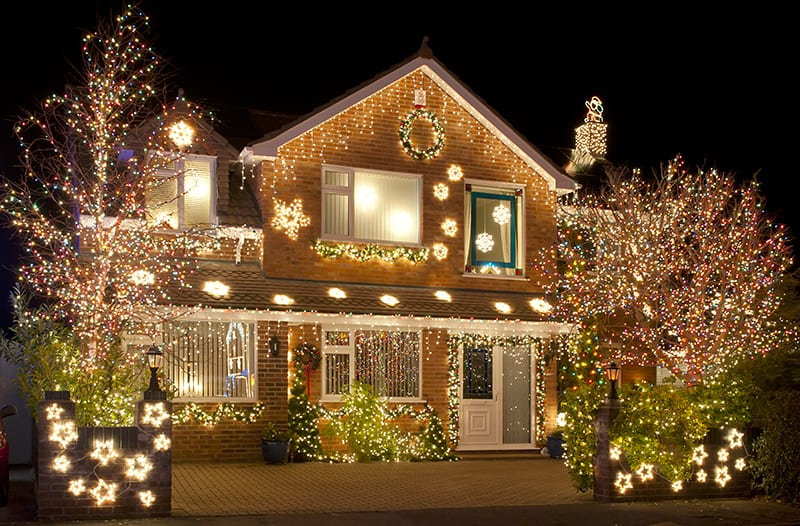 tips for safely hanging holiday lights - How To Put Christmas Lights On Tree